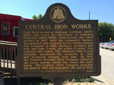 Central Iron Works Marker (Side 2) image. Click for full size.