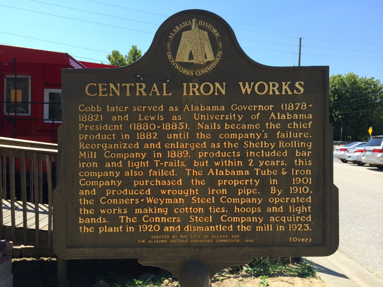 Central Iron Works Marker (Side 2)