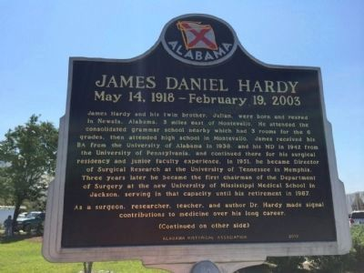 James Daniel Hardy Marker (side 1) image. Click for full size.