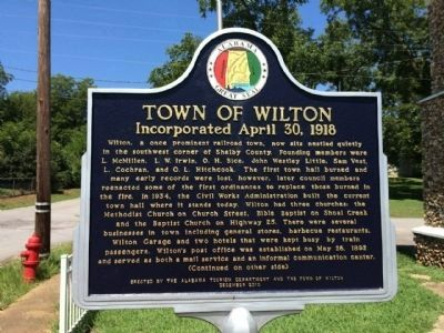 Town of Wilton Marker (side 1) image. Click for full size.