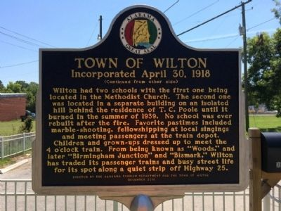 Town of Wilton Marker (side 2) image. Click for full size.