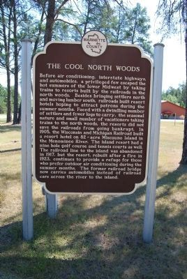 The Cool North Woods Marker image. Click for full size.