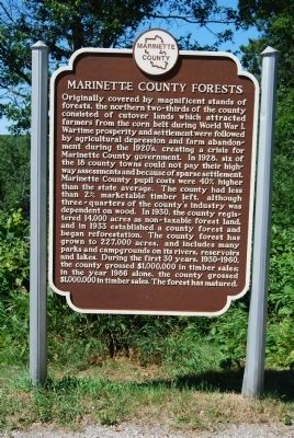 Marinette County Forests Marker image. Click for full size.