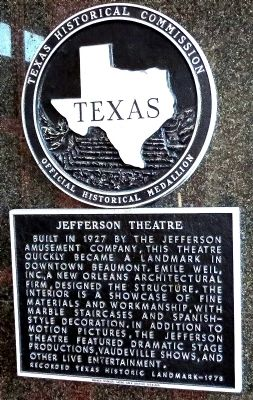 Jefferson Theatre Marker image. Click for full size.