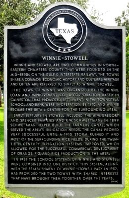 Winnie-Stowell Marker image. Click for full size.