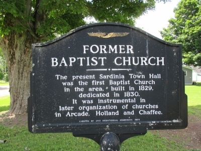 Former Baptist Church Marker image. Click for full size.