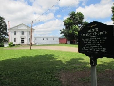 Former Baptist Church and Marker image. Click for full size.