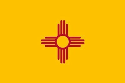 New Mexico State Flag image. Click for full size.