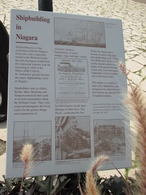 Shipbuilding in Niagara Marker image. Click for full size.