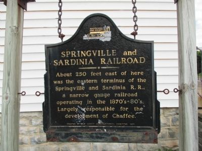 Springville and Sardinia Railroad Marker image. Click for full size.