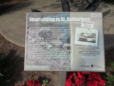 Shipbuilding in St. Catharines 1845 Marker image. Click for full size.