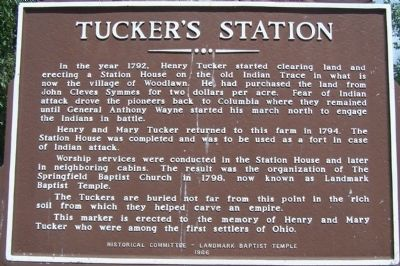 Tucker's Station Marker image. Click for full size.