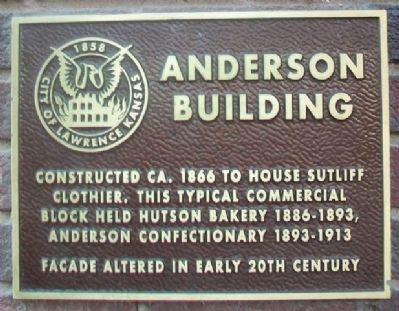 Anderson Building Marker image. Click for full size.