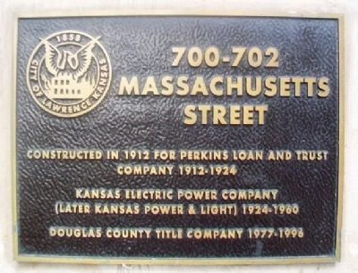 700-702 Massachusetts Street Marker image. Click for full size.