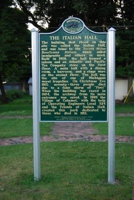 The Italian Hall Marker image. Click for full size.