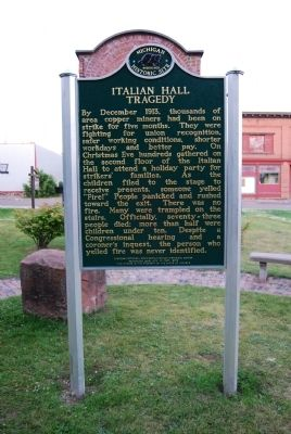 Italian Hall Tragedy Marker image. Click for full size.
