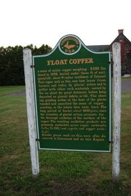 Float Copper Marker image. Click for full size.