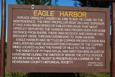 Eagle Harbor Marker image. Click for full size.