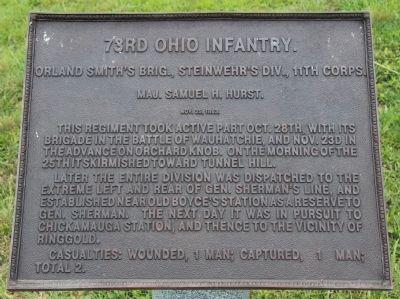 73rd Ohio Infantry Marker image. Click for full size.