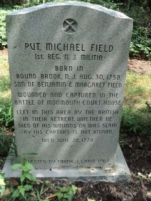 Pvt. Michael Field Marker image. Click for full size.