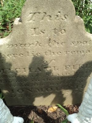 Original Grave Marker of Pvt. Michael Field image. Click for full size.