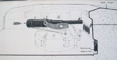 Top Right Illustration on Gun Emplacement Marker image. Click for full size.