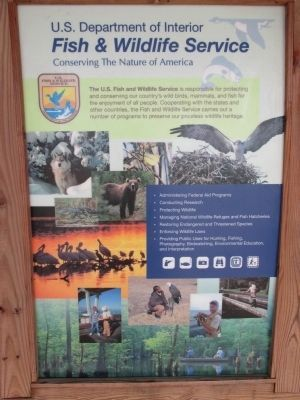 U. S. Fish and Wildlife Service Mission Statement image. Click for full size.