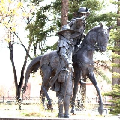 """The Founding of Santa Fe"" Sculpture image. Click for full size."