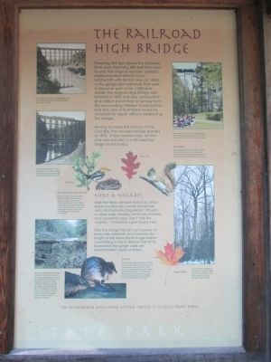 The Railroad High Bridge Marker image. Click for full size.