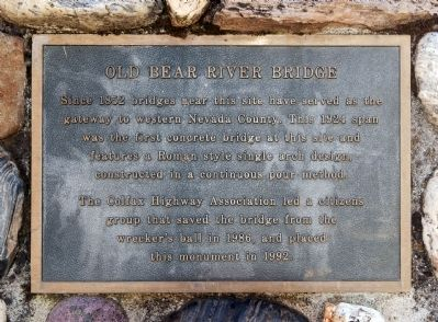 Old Bear River Bridge Marker image. Click for full size.