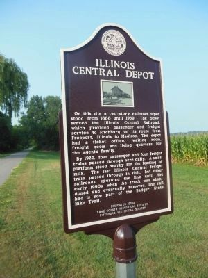 Illinois Central Depot Marker image. Click for full size.