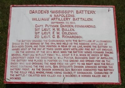 Darden's Mississippi Battery Marker image. Click for full size.
