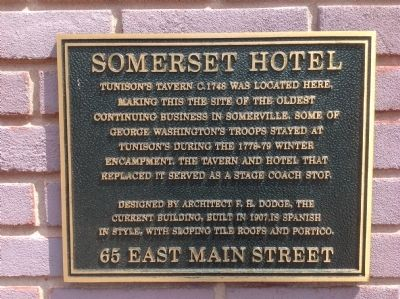 Somerset Hotel Marker image. Click for full size.