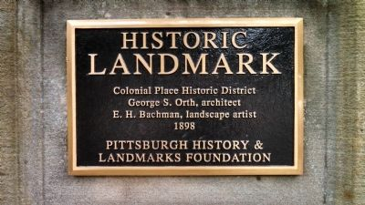 Colonial Place Historic District Marker image. Click for full size.