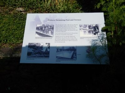 Historic Swimming Pool and Terrace Marker image. Click for full size.