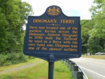 Dingman's Ferry Marker image. Click for full size.