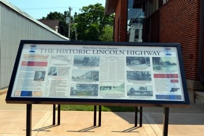 The Historic Lincoln Highway Marker image. Click for full size.