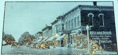 Downtown New Carlisle c. 1920 image. Click for full size.