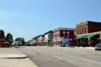 Lincoln Highway in Downtown New Carlisle Today image. Click for full size.