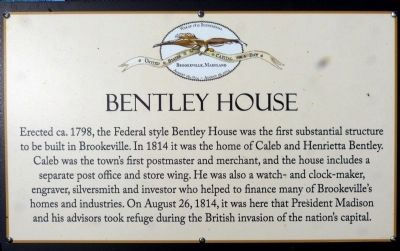 Bentley House Marker image. Click for full size.