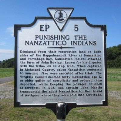Punishing the Nanzattico Indians Marker image. Click for full size.