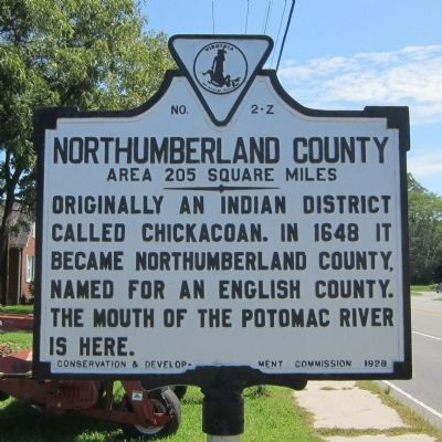 Northumberland County Marker image. Click for full size.