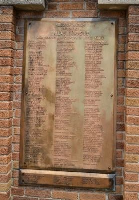 Dallas Township World War II Roll of Honor image. Click for full size.