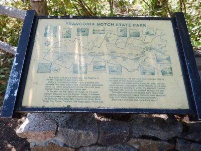 Franconia Notch State Park Marker image. Click for full size.
