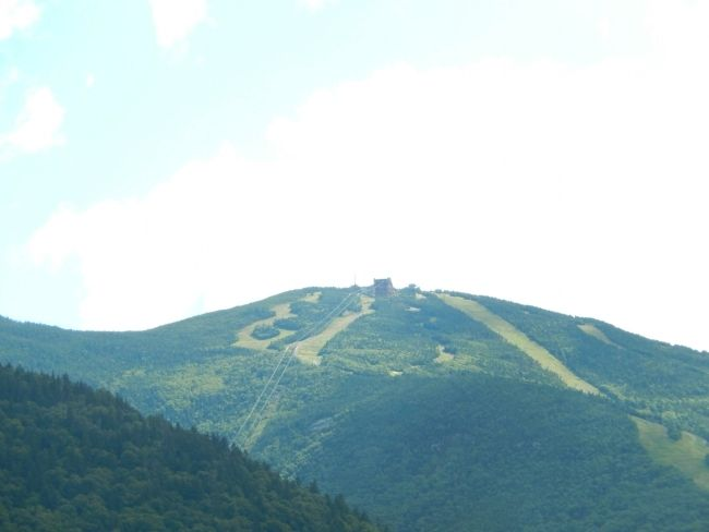 Ski slopes on Cannon Mountain image. Click for full size.