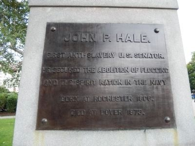 John P. Hale Marker (Rear) image. Click for full size.