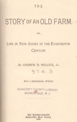 Title page of Mellick's 1889 work. image. Click for full size.