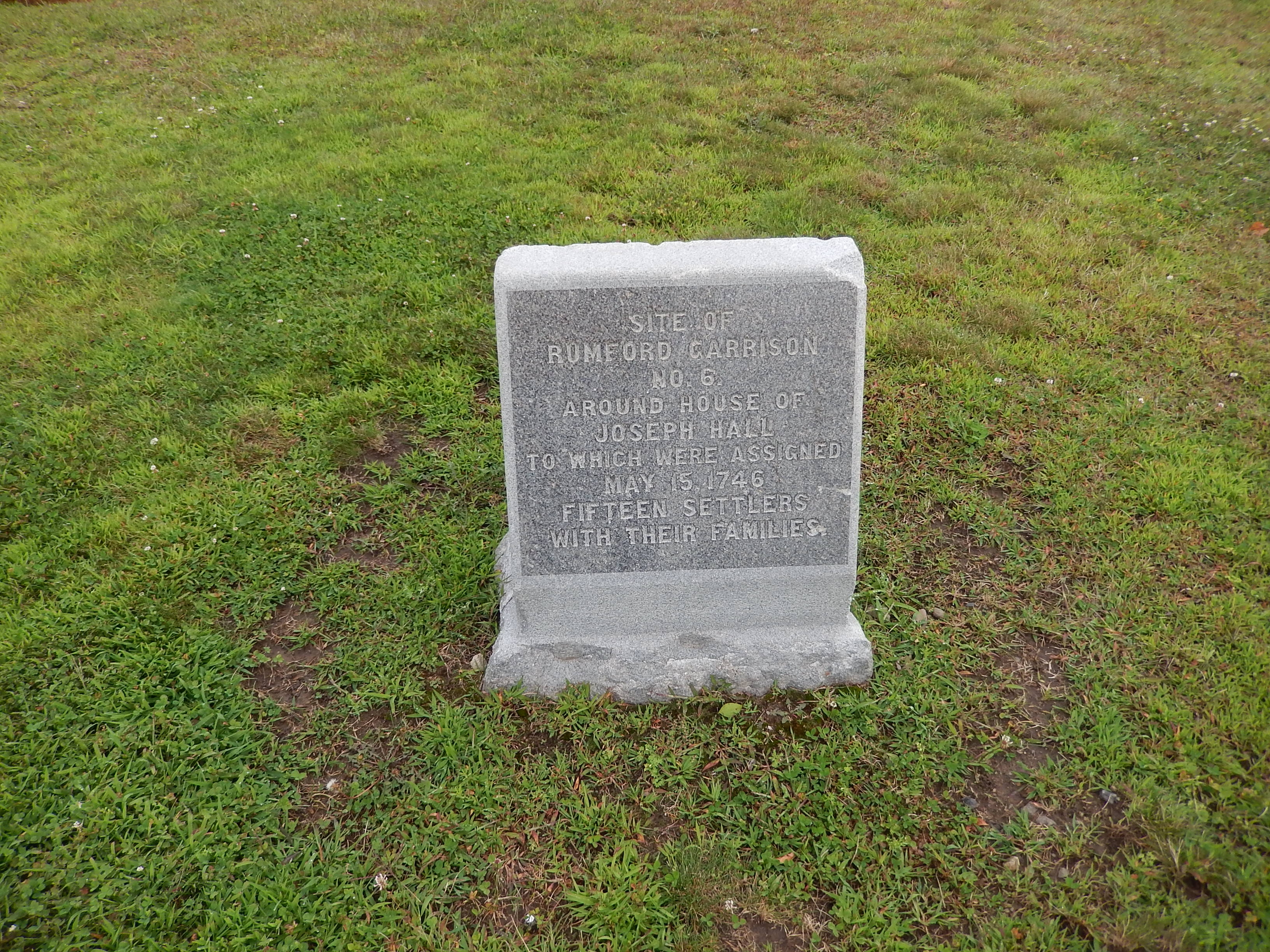 Site of Rumford Garrison No. 6 Marker