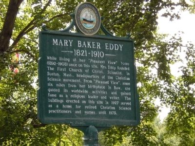 Mary Baker Eddy Marker image. Click for full size.