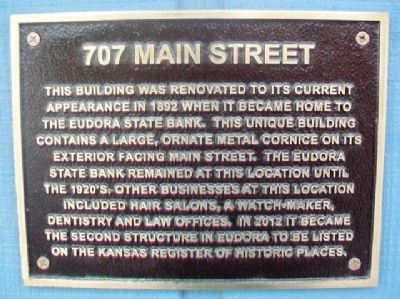 707 Main Street Marker image. Click for full size.